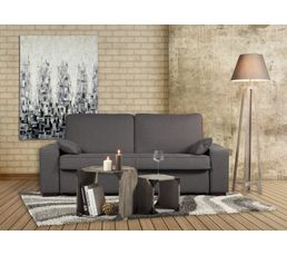 canap convertible 3 places 140x190 cm gris taupe fast. Black Bedroom Furniture Sets. Home Design Ideas