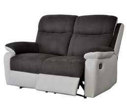 Canap� 2 places 2 relax WARM II Polyur�thane Blanc/Micro.Gris
