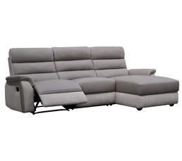canap angle relax m ridienne droite welton cuir taupe clair pas cher avis et prix en p. Black Bedroom Furniture Sets. Home Design Ideas