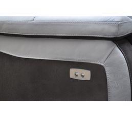Angle 2 relax électriques WELTON Cuir Gris cl/micro.Charbon