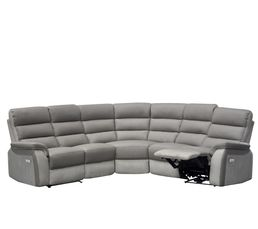 Angle 2 relax électriques WELTON Cuir Taupe/micro.gris clair