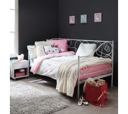 banquette lit x cm laura blanc lits but with lit empilable but. Black Bedroom Furniture Sets. Home Design Ideas