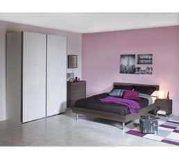 t te de lit 140 cm shadow taupe t tes de lit but. Black Bedroom Furniture Sets. Home Design Ideas