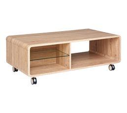 HELGA Table basse fixe Chêne sonoma