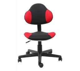 chaise de bureau new froggy rouge noir chaises et. Black Bedroom Furniture Sets. Home Design Ideas