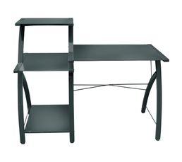 Console bureau techno gris bureaux but for Mobilier bureau quimperle