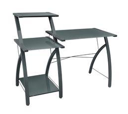 console bureau techno gris pas cher avis et prix en promo. Black Bedroom Furniture Sets. Home Design Ideas