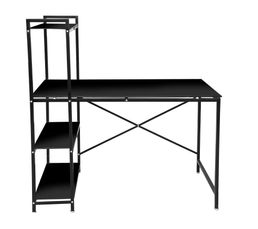 bureau avec tag re book up 2 noir bureaux but. Black Bedroom Furniture Sets. Home Design Ideas