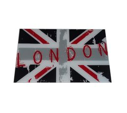 Plateau verre LONDON UK L 80 cm