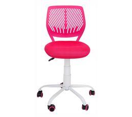 chaise dactylo twitt rose chaises et fauteuils but. Black Bedroom Furniture Sets. Home Design Ideas