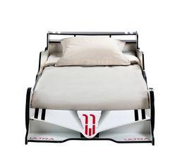 Lit 90x190 cm DRIVER 2 rouge et blanc