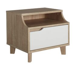 Tables de chevet conforama ensemble lit commode table de for Cadre de lit ikea avec tables de chevet