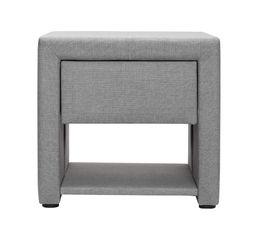 Chevet milano gris for Conforama table de nuit