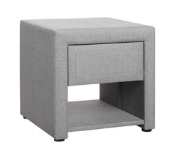 Couleur gris table de chevet pas cher for Table de nuit grise
