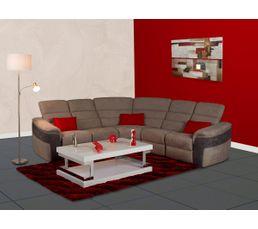 Canapés - Canapé angle relax manuel KIM Micro.Gris clair/Micro.Gris