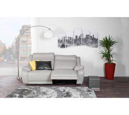 Canapé 3 places relax élect. SUNDAY Cuir/PU Gris
