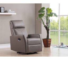 Fauteuils - Fauteuil relax MOTION PU Taupe
