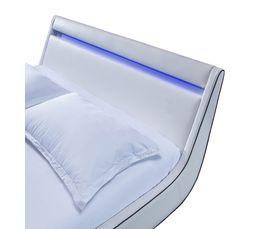 Lits - Lit 160x200 BRESCIA Blanc