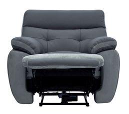 fauteuil relax lectrique eden cuir cro te cuir gris f gris c fauteuils but. Black Bedroom Furniture Sets. Home Design Ideas
