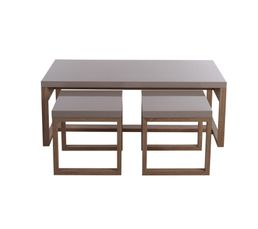 Table basse 3 gigognes STORY Ch�ne/taupe