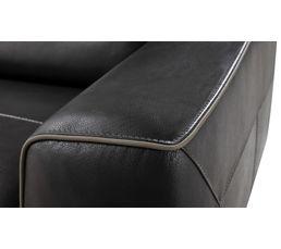 Canapé 3 places SOFIA Cuir/croûte cuir Gris F/Gris