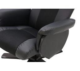 Fauteuil relax + pouf OFFICE Coloris Noir