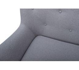 Canapé 3 places scandinave MILO Tissu gris clair