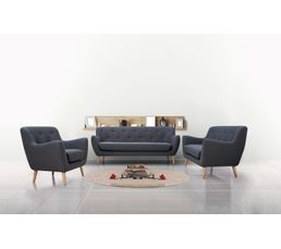 Canap 2 places scandinave milo tissu gris anthracite canap s but - Canape 2 places scandinave ...
