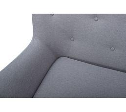 Fauteuil scandinave MILO tissu gris clair