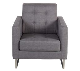 fauteuil iris tissu gris clair fauteuils but. Black Bedroom Furniture Sets. Home Design Ideas