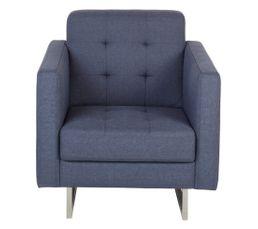 Fauteuil iris tissu bleu fauteuils but - Produit nettoyage fauteuil tissu ...