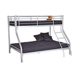 lit superpos bibop 4 gris lits superpos s et mezzanines but. Black Bedroom Furniture Sets. Home Design Ideas