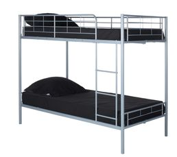 lit superpos 2x90x190 cm city 3 gris lits superpos s et mezzanines but. Black Bedroom Furniture Sets. Home Design Ideas