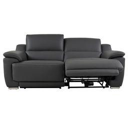 canap 3 places 2 rlx lectri vogg ii cuir cro te cuir gris fonc canap s but. Black Bedroom Furniture Sets. Home Design Ideas