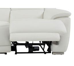 Canapé 2 places 2 Rlx électri. VOGG II Cuir / croûte cuir Blanc