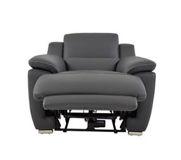 fauteuil relax lectrique vogg ii cuir cro te cuir gris fonc fauteuils but. Black Bedroom Furniture Sets. Home Design Ideas