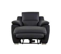 fauteuil relax lectrique vogg ii cuir cro te cuir noir fauteuils but. Black Bedroom Furniture Sets. Home Design Ideas