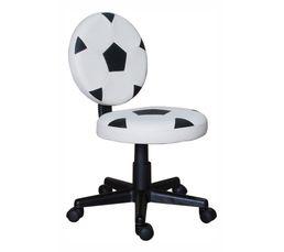 Chaise dactylo FOOTY Blanc et noir