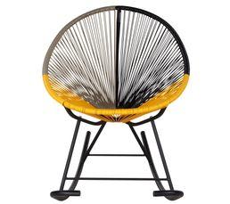 Chaises - Rocking chair GARDEN Jaune/noir/taupe