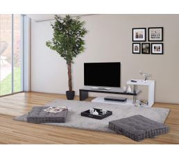 Meuble TV AARON Blanc et noir