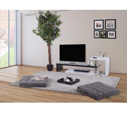 Meubles Tv - Meuble TV AARON Blanc et noir