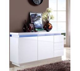 buffet led colors blanc buffets but. Black Bedroom Furniture Sets. Home Design Ideas
