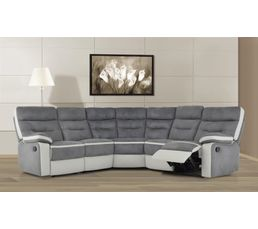 canap d 39 angle relax titan gris et blanc canap s but. Black Bedroom Furniture Sets. Home Design Ideas