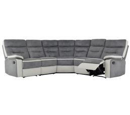 Canapé d'angle relax TITAN Gris et blanc