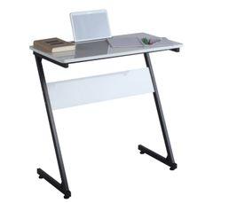 Bureaux - Console informatique TINA Blanc/noir