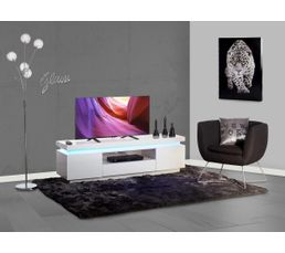 meuble tv led luci blanc meubles tv but. Black Bedroom Furniture Sets. Home Design Ideas