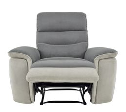 fauteuil relax manuel seattle microfibre gris gris perle fauteuils but. Black Bedroom Furniture Sets. Home Design Ideas