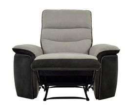 fauteuil relax manuel seattle microfibre taupe charbon. Black Bedroom Furniture Sets. Home Design Ideas
