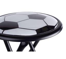 Tabouret FOOTBALL Noir/Blanc