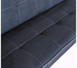 Banquette-lit ADELE Tissu Noir